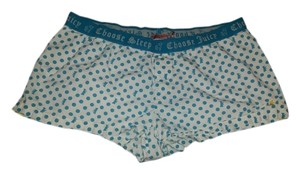 Juicy Couture Polka Dot Boxers Pajama Shorts blue white