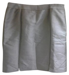 Talbots Silk/wool Mini Skirt Gray