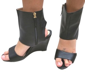Fendi Leather Wedges BLACK Sandals