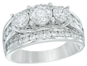 Zales 2 Ct. T.W. Diamond Past Present & Future Ring 14K White Gold Zales + 2 Year Theft Replacement