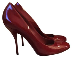 Gucci Red Red Italian Leather Patent Leather Patent Red Pumps