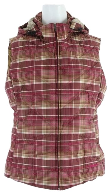 Item - Headlands Plaid Magenta New/Never Worn Down with It with Hoody Medium Vest Size 6 (S)