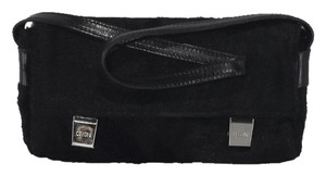 Cecconi Pony Hair Leather Black Clutch