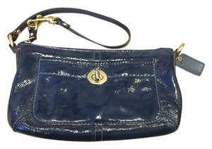 Coach Wristlet in Blue Patent