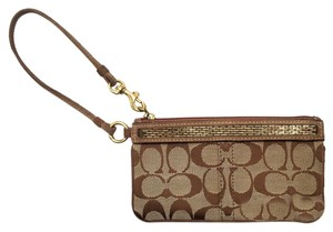 Coach Wristlet in Brown Suede