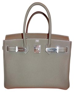 Hermès Birkin Epsom Leather Palladium 30cm Satchel in Etoupe