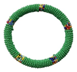 NEW Fair Trade Seed Bead Bangle Bracelet