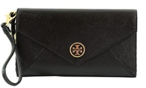 Tory Burch Robinson Envelope Black Clutch