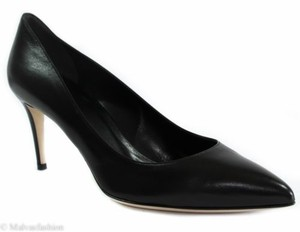 Gucci 338724 Leather Mid Heel Black Pumps