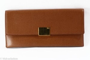 Ralph Lauren Nwtlauren Newbury Lauren Tan Brown Clutch