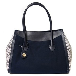 Tory Burch Savannah Handbag Tote in blue