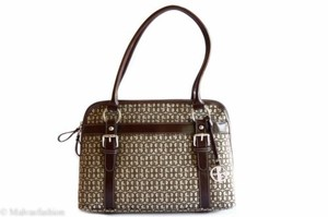 Giani Bernini Annabelle Dome Handbag Khakibrown Satchel in Multi-Color