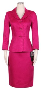 Le Suit LE SUIT NEW Womens English Garden Pink Jacquard Skirt Suit Petites 12P