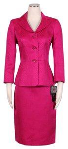 Le Suit LE SUIT NEW Womens English Garden Pink Jacquard Skirt Suit Petites 10P