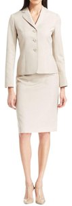 Le Suit LE SUIT NEW Womens Country Club Beige Heathered 2PC Skirt Suit 6