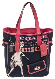 Coach Tote in Blue and Pink