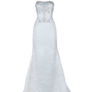 Reem Acra Ivory Silk Organza Formal Wedding Dress Size 2 (XS)