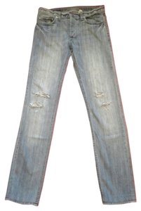 Marc Jacobs Distressed Straight Leg Jeans-Distressed