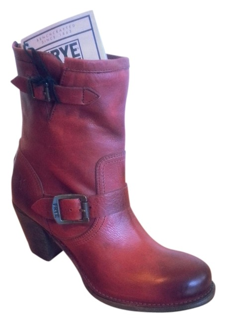Item - Red Leather Engineer Leather Heel Boots/Booties Size US 9 Regular (M, B)