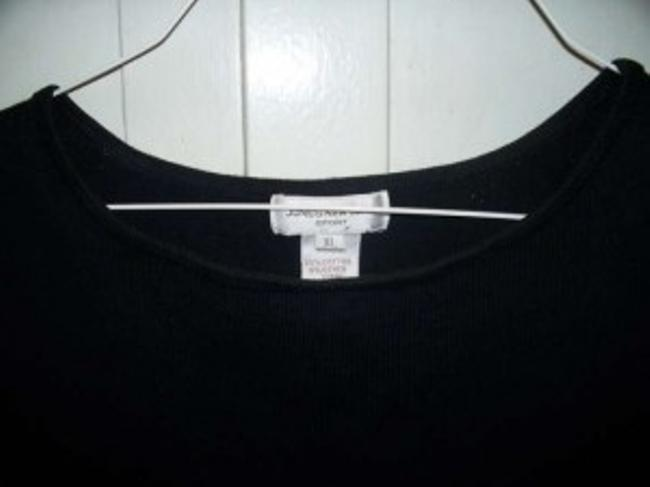 Jones New York Stretch Cotton Spandex Lycra Round Collar Narrow Banded Bottom Edge Made In Australia Sweater