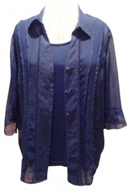 Preload https://item3.tradesy.com/images/maggie-barnes-blue-2-in-1-1820-blouse-size-20-plus-1x-135002-0-0.jpg?width=400&height=650