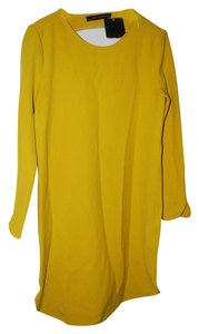 Zara short dress yellow Mustard on Tradesy