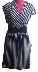Fredericks of Hollywood short dress Black and White stripes on Tradesy