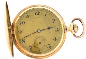 NG Vintage Antique NG 14k 585 Solid Yellow Gold Pocket Watch