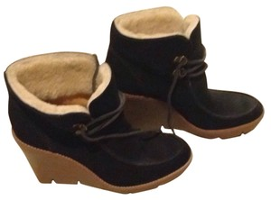 Michael Kors Wedge Ankle Bootie Suede Black Boots