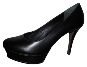 Vera Wang Leather Pump black Platforms