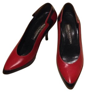 Valentino Color-blocking Leather Pumps