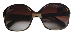 Oliver Peoples casandra 2 tone brown tan tortoise sunglasses NEW
