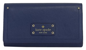 Kate Spade Blue Pebbled Leather Wallet