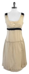 Miu Miu short dress Tan Black Silk Sleeveless on Tradesy