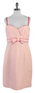 Nanette Lepore short dress Pink Cotton Strapless on Tradesy