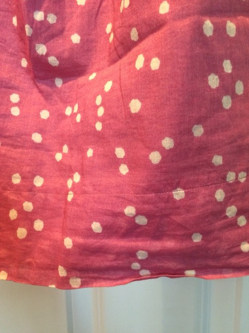 American Eagle Outfitters Top Pink with Ivory Polka Dots