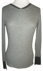 Social Occasions Long Sleeve Thermal Knit T Shirt Gray