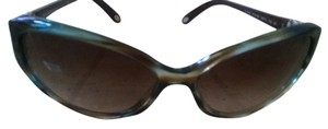 Tiffany & Co. New Tiffany & Co. Sunglasses TF 4099H 8134/3B Havana Blue Acetate Full-Frame Brown Gradient Lens 57mm Italy