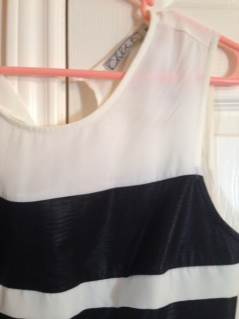 Chloe K Top Off White With Black