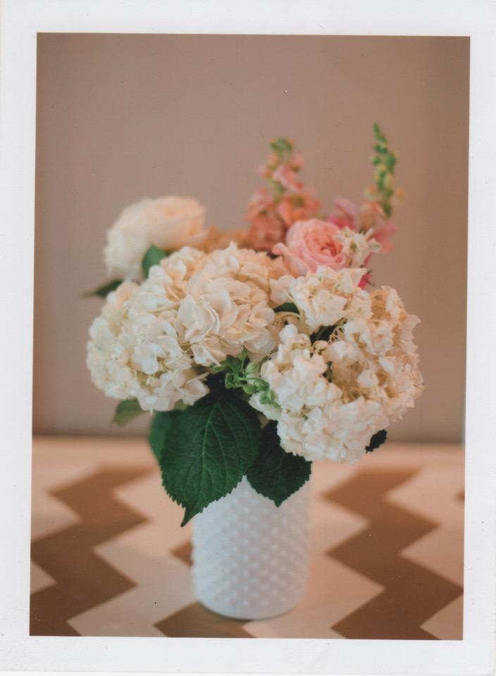White Short And Tall Hobnail Can Vases Centerpiece Tradesy