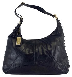 Badgley Mischka Black Leather Hobo Bag