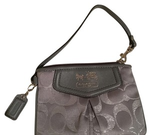 Coach Wristlet in Silver Grey