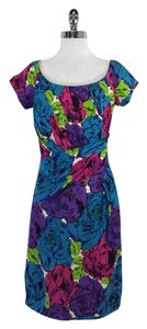 Betsey Johnson short dress Multi Color Floral Print on Tradesy