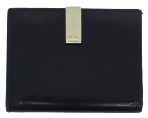 Prada Vintage Small Black Leather Wallet