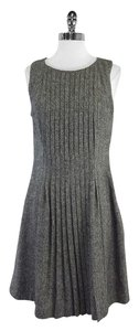 Tory Burch short dress Grey Tweed Pleated Sleeveless on Tradesy