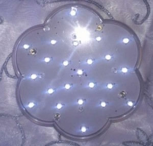 Clear Led Light For Centerpieces Reception Decoration