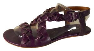 Modern Vintage Leather Flats purple Sandals