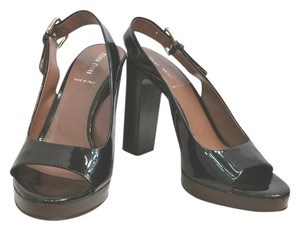 Miu Miu Patent Leather Heels BLACK Sandals