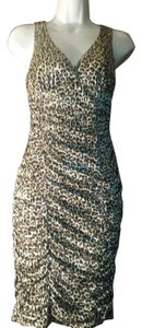 Body Central Bodycon Animal Print Midi Mini Dress