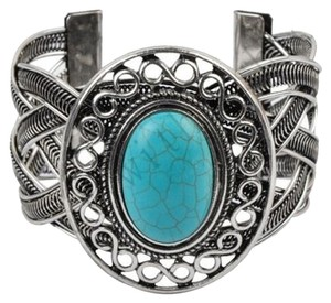 SALE! Brand New! Turquoise and Tibetan Silver cuff bracelet!